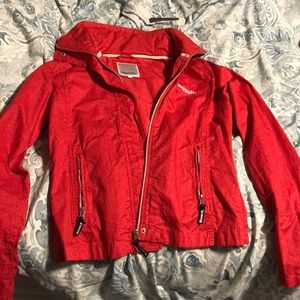 2/$30 red bench jacket size youth large